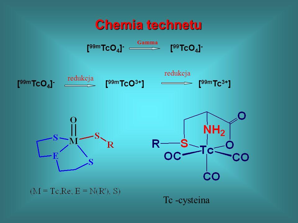 Chemia technetu Tc -cysteina [99mTcO4]- [99TcO4]-
